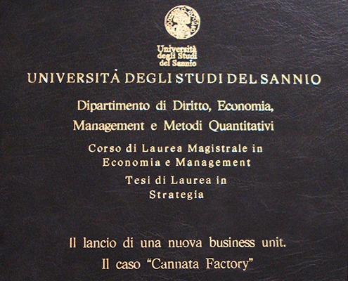 Cannata factory una divisione di cannata partners for Laurea magistrale design